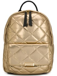 Twin Set Quilted Backpack Gold