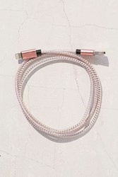 Urban Outfitters 3 Ft Metallic Lightning Cord Pink