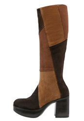 Jeannot Platform Boots Dark Brown