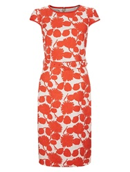 Hobbs Jessie Dress Natural Hot Red