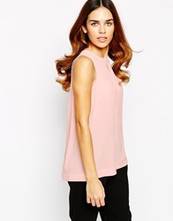 Warehouse Chiffon Back Shell Top Pink