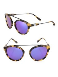 Westward Leaning Flower 3 51Mm Mirrored Aviator Sunglasses Tortoise Violet