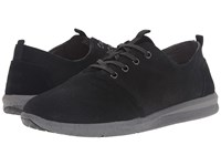 Toms Del Rey Black Embossed Waterproof Suede Men's Lace Up Casual Shoes