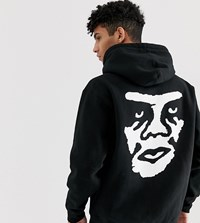 Obey Creeper Backprint Hoodie Exclusive To Asos In Black
