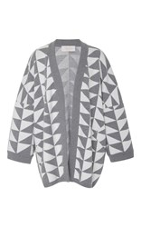 Tak.Ori Tak. Ori Oversized Triangle Cardigan Grey