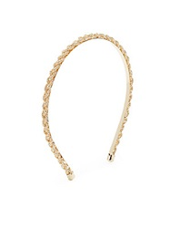 Natasha Braided Metallic Headband Goldtone