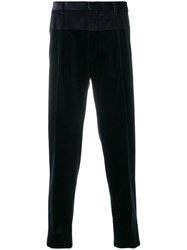 Gabriele Pasini Corded Tailored Trousers Cotton Viscose Blue