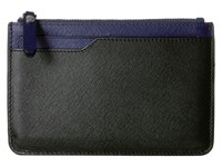 Ecco Iola Small Travel Wallet Black Deep Cobalt Wallet Handbags