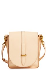 Frye Ilana Leather Crossbody Bag Beige Natural