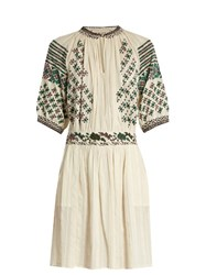 Vanessa Bruno Frivole Embroidered Dress Ivory