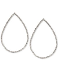 Touch Of Silver Crystal Teardrop Drop Earrings In Plate