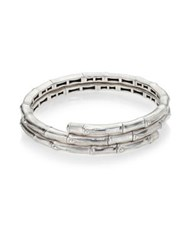 John Hardy Bamboo Small Sterling Silver Double Coil Bracelet