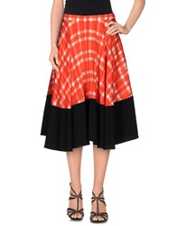 Emanuel Ungaro Skirts Knee Length Skirts Women Red