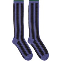 Haider Ackermann Purple And Black Beryl Stripe Socks
