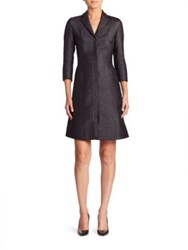 Akris Tulle Inset Coat Dress Black