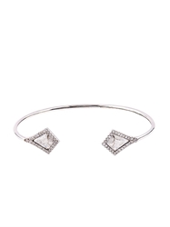Susan Foster Diamond Slice And White Gold Bracelet