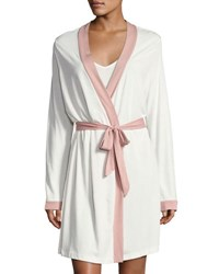 Cosabella Bella Long Sleeve Knit Robe White