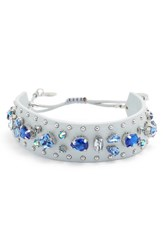 Rebecca Minkoff Women's Crystal Guitar Strap Bracelet Putty Blue