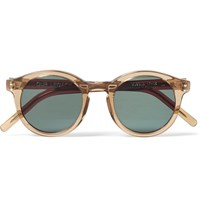 Our Legacy Bold Round Frame Acetate Sunglasses Brown