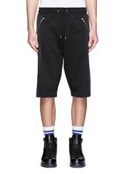 Mcq By Alexander Mcqueen Contrast Panel Drawstring Shorts Black
