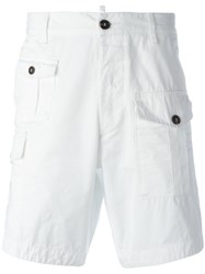 Dsquared2 Classic Cargo Shorts White