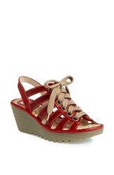 Women's Fly London 'Yito' Sandal Red