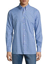 Lauren Ralph Lauren Plaid Poplin Button Down Shirt Periwinkle