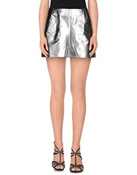 Paolo Errico Trousers Shorts Women Silver