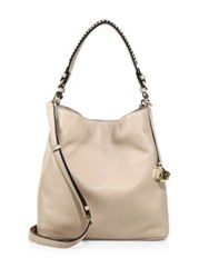 Diane Von Furstenberg Stevie Leather Shoulder Bag Latte