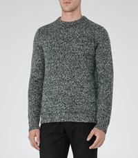Reiss Horton Mens Twisted Yarn Jumper In Green