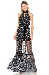 Alexis Florence Gown Black And White