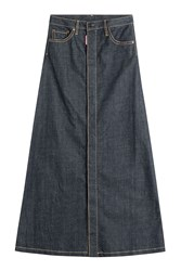 Dsquared2 Denim Maxi Skirt Blue