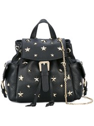 Red Valentino Star Studded Backpack Black