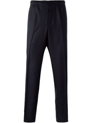 Maison Kitsune Casual Trousers Blue