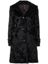 Rrd Textured Single Breasted Coat Cotton Modal Viscose Black