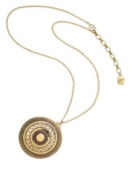 Kilian Greek Key Scented Locket Necklace Goldtone .