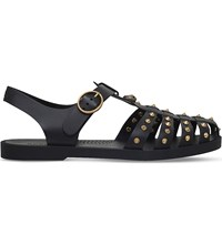 Gucci Studded Rubber Sandals Black