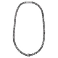 Adele Marie Fine Bead Pave Rope Necklace Silver