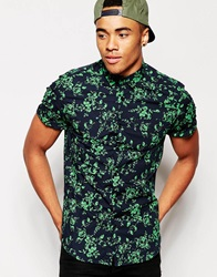 New Look Short Sleeve Floral Shirt Greenenvy