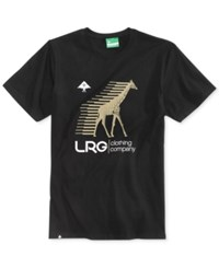 Lrg Men's Swift Graphic Print Logo Cotton T Shirt Black
