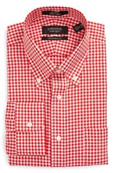 Nordstrom Men's Big And Tall Men's Shop Traditional Fit Non Iron Gingham Dress Shirt Red Blaze