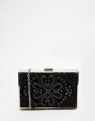 New Look Embellished Statement Clutch Bag Black