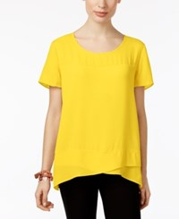 Ny Collection Crossover Top Lemon Zest