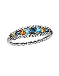 Effy Blue Topaz London Blue Topaz And Citrine 18K Yellow Goldplated Sterling Silver Bracelet Multi