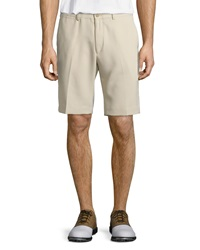 Bobby Jones Nanotex Flat Front Shorts Khaki