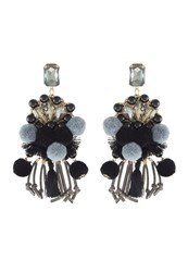 Sweet Deluxe Hippie Earrings Gunmetal Schwarz Metallic Black