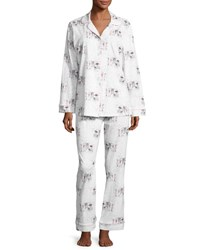 Bedhead Exclusive Glamping Long Sleeve Classic Pajama Set White Pattern