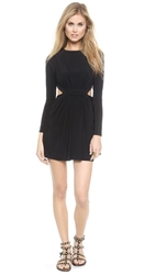 Tbags Los Angeles Long Sleeve Cutout Mini Dress Black