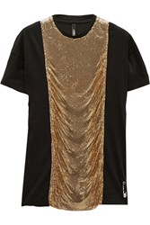 Versus Chainmail Embellished Cotton Top Black
