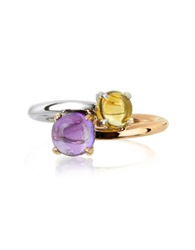 Mia And Beverly Amethyst And Citrine Quartz 18K Rose And White Gold Purple